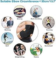 LIUMY coderas deportivas, coderas epicondilitis para tendinitis ,Ajustable Soporte para Codo con Estabilizadores Dobles de Resortes, Compresión de ...