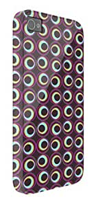 phone covers Abstract Circles Pattern iPhone 5c protective case (image shows iPhone 4 example)