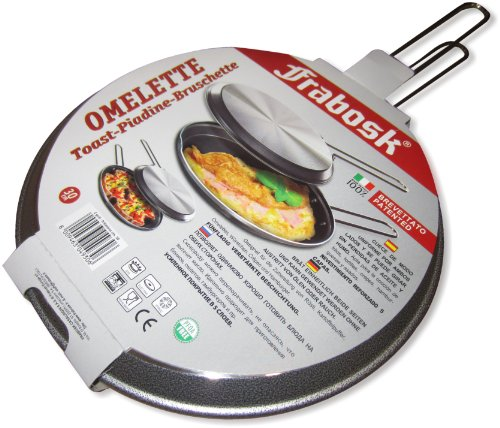 "Frabosk: ""2 Grill"" 2 Sides Special Pan Set for Omelettes, 30cm (11.8in) [ Italian Import ]"
