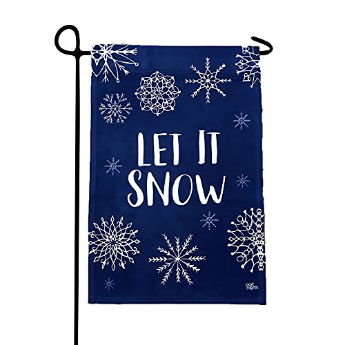 Garden Flag - Let It Snow Double Sided Decorative Flags for Outdoors - Weather Tested and Fade Resistant USA Designed - Best for Party Yard and Home Outdoor Decor - 12x18 inches