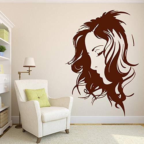 Pbldb Beauty Salon Decor Wall Sticker Vinyl Decal Beautiful Girl Sexy Hairstyle 27X43Cm -