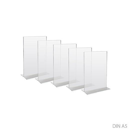 Grandeur R/églable Support pour Menus HMF 46922-10 x Pr/ésentoir de Table Din A4 Acrylique 21,5 x 32 x 10,5 cm