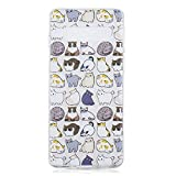 Galaxy S10+ Case, for [S10+], MerKuyom Lightweight [Clear Crystal Transparent] Slim-Fit Flexible Gel Soft TPU Case Cover for Samsung Galaxy S10+ / S10 Plus, W/Stylus (Mulitple Cute Cats)