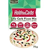 "Low Carb Pizza Crust Mix, Very Low Calorie, Gluten Free, No Added Sugar, No Sweeteners, No Preservatives, Made in Canada - makes one large 12"" pizza"