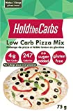 """Low Carb Pizza Crust Mix, Very Low Calorie, Gluten Free, No Added Sugar, No Sweeteners, No Preservatives, Made in Canada - makes one large 12"""" pizza"""