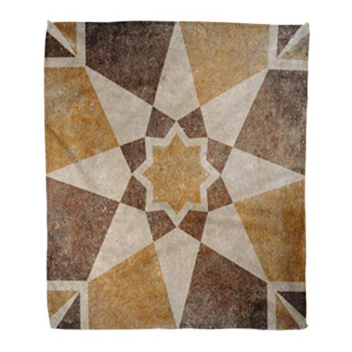 Golee Throw Blanket Rustic Marble Floor Tiles Pattern Porcelain Wall for Abstract Architecture 50x60 Inches Warm Fuzzy Soft Blanket for Bed Sofa ()