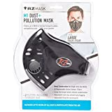RZ Dust/Pollution Mask w/2 Laboratory Tested Filters, Model M1, Black, Size Regular/Large