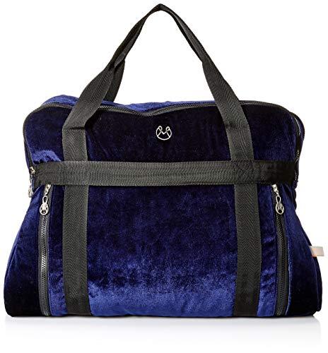 Maaji Women's Velvet Solid Yoga Bag, blue, One Size