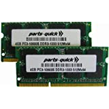 8GB 2 X 4GB DDR3 PC3-10600 1333MHz 204 pin SODIMM HP EliteBook 2540p 2740p 8440p 8540p Notebook Laptop Memory RAM (PARTS-QUICK BRAND)