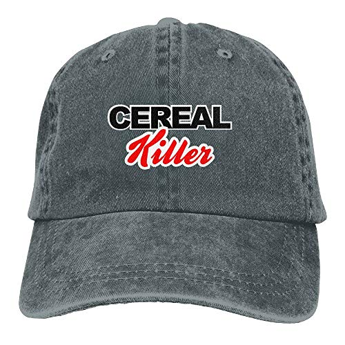 Unisex Washed Retro Denim Hats Adjustable Baseball Cap Cereal Killer Humor Dad Hat Stetson Hat