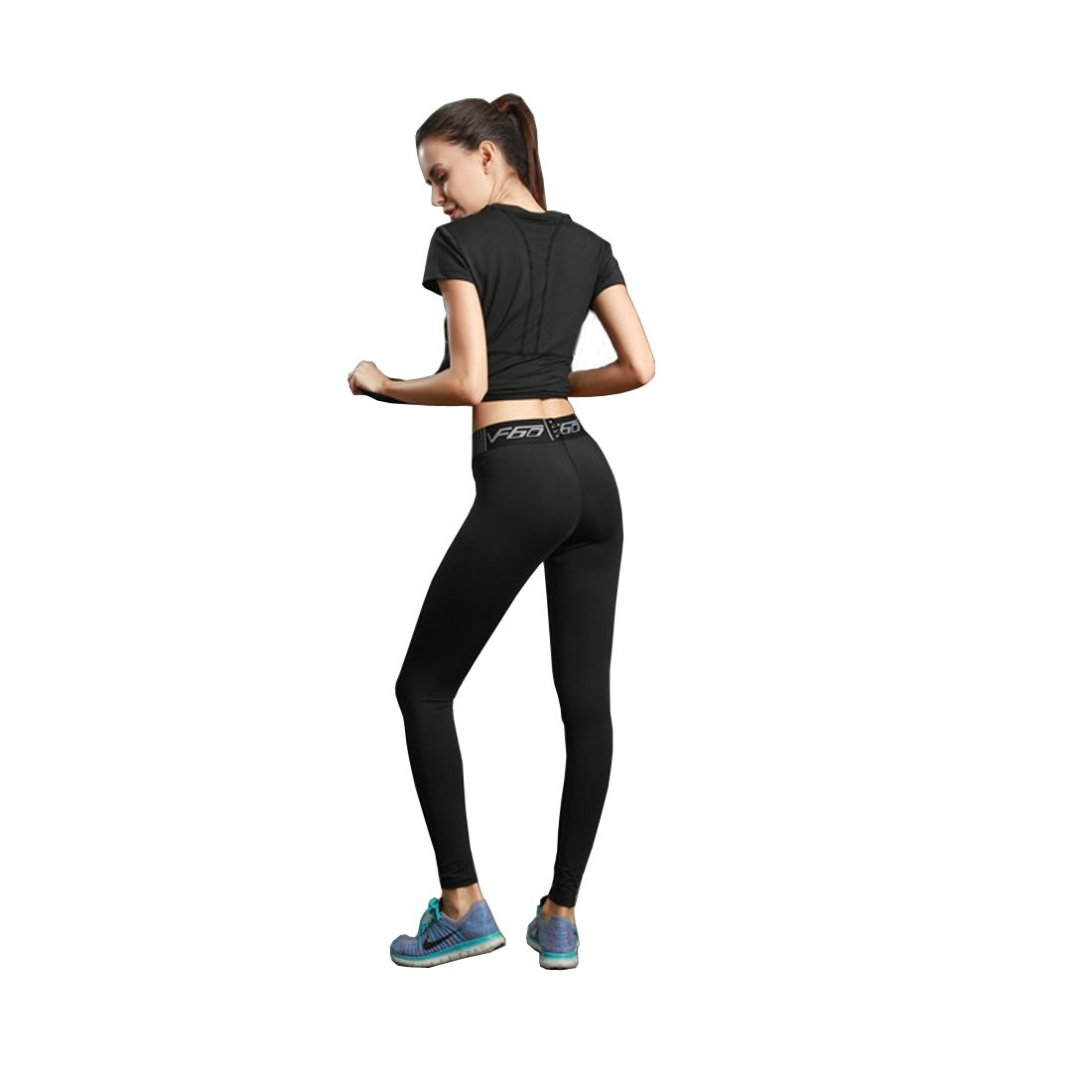 7cb730a607183 Amazon.com: Klorify Black Running Legging For Woman Yoga Pant Workout Tight  Exercise Trouser: Clothing