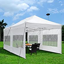 Yescom 10x20 Feet Easy Pop Up Canopy Folding Wedding Party Tent Removable Sidewall Carry Bag Outdoor White