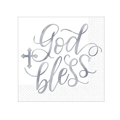 First Holy Communion, Confirmation, Baptism, Religious Celebration Unisex Party Luncheon Napkin Multi-Pack - 3 Packages - 48 Total Napkins: Toys & Games