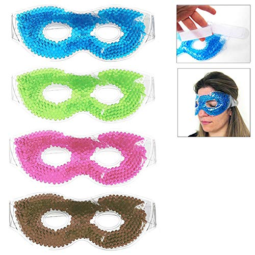 (Gel Eye Mask Cold Pack Warm Hot Heat Ice Cool Thermabead Soothing Tired Eyes Pad)