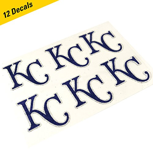 Kansas City Royals MLB Glitter Cheek Decals, Perfect for Game Day and Tailgate (12 Decals) -