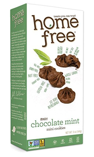Homefree Treats You Can Trust Gluten Free Mini Cookies, Chocolate Mint, 5 Ounce (Pack of 6)