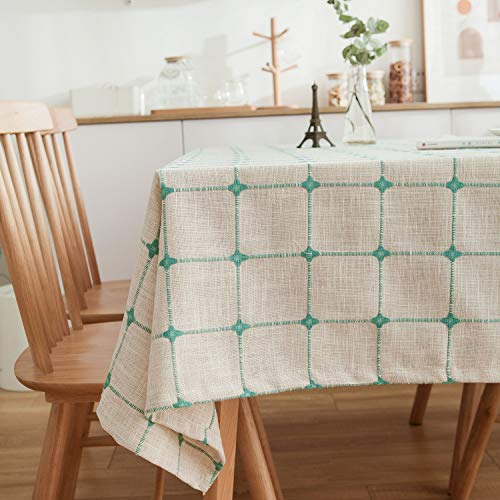 famibay Holiday Elegance Engineered Jacquard Christmas Tablecloths (Linen,Grey 52