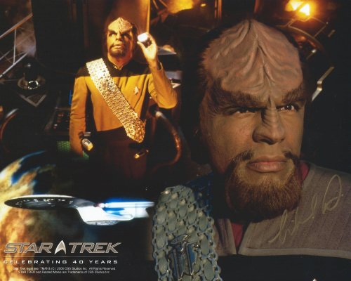 Star Trek the Next Generation Signed Autographed Michael Dorn as Worf 8x10 ()