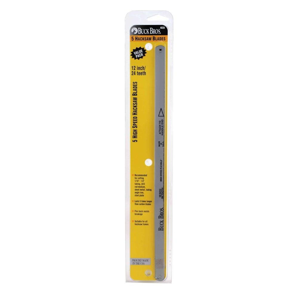 . 12 In. And 24T Hss Hacksaw Blade (5-Pack)-Buck Bros-120GM524 by Buck Bros.