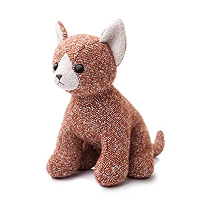 Aurora World Fabbies Tabby Cat Plush Toy (Medium, Brown/Orange/White)