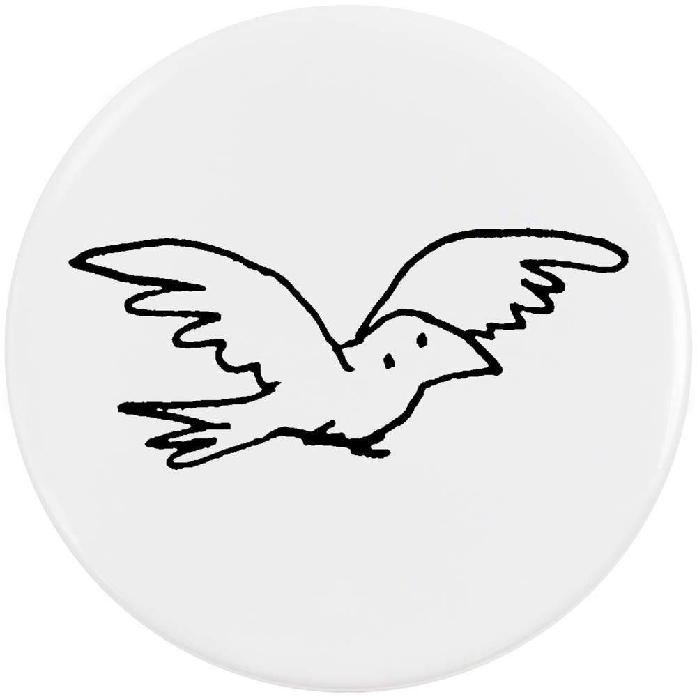 Azeeda 58mm 'Oiseau Volant' Bouton de Badge (BB00019383)