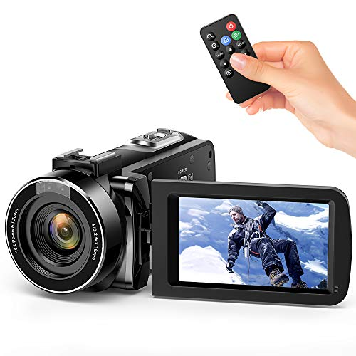 Andoer Video Camera Camcorder, Digital Camera Recorder FHD 1080P Portable Camera Infrared Night Vision 3.0