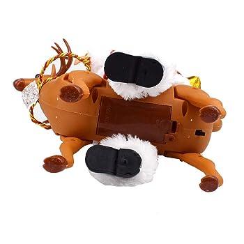 Faionny Electric Musical Twerking Walking Around The Deer Santa Education Toys Souptoys