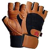 Valeo Wrist Wrap Padded Ocelot Lifting Gloves, Gym Gloves, Workout Gloves, Exercise Gloves for Powerlifting, Cross Training, Rowing for Men & Women