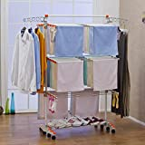 Badoogi BDP-V12 Foldable Heavy Duty and Compact Storage Drying Rack System, Premium Size