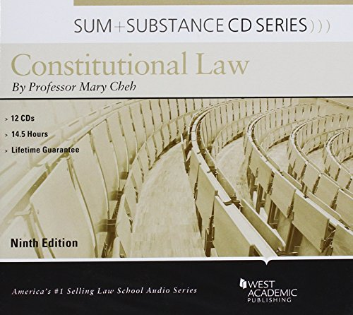 Sum and Substance Audio on Constitutional Law, 9th (CD) by West Academic Publishing