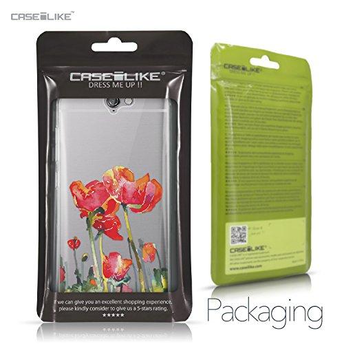 CASEiLIKE Funda HTC U Ultra , Carcasa HTC U Ultra, Flores florecientes turquesa 2249, TPU Gel silicone protectora cover Acuarela floral 2230