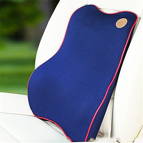 SEERCAR Memory Foam Car Set Back Lumbar Cushion,1 Backrest. (A single Backrest_blue) by SEERCAR