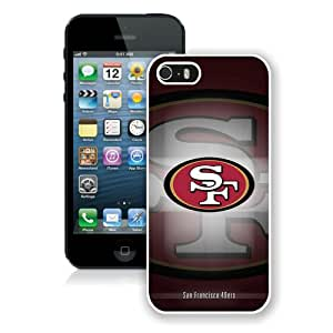 San Francisco 49ers 18 White Case for iPhone 5S,Prefectly fit and directly access all the features