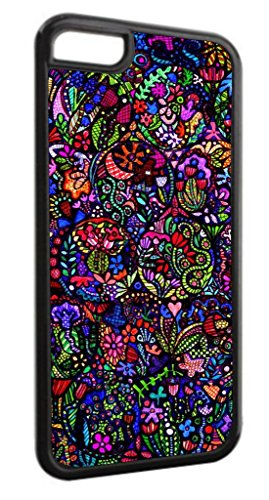 Stained Glass Mosaic TM Black Plastic Case for the Apple iPhone 6, 6s (Not Compatible with the 6 - Cutest Glasses