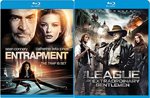 Sean Connery Action movie Set The League of Extraordinary Gentlemen + Entrapment Blu Ray Double Feature Combo Edition
