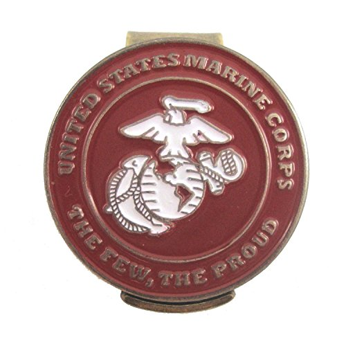 Waggle Pro Shop U.S. Marines Hat Clip with Double-Sided USMC Golf Ball Marker