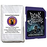 AtmosFearFX Bone Chillers SD Card and Reaper Brothers 40'' x 60'' High Resolution Window Projection Screen for Virtual Halloween Videos