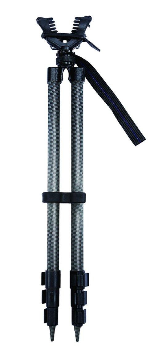 Carbon Express Sharpshooter Bi-Pod Shooting Stick, 25'' to 64'' Telescoping Design, Black by Carbon Express (Image #1)