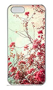 iPhone 5S Case, iPhone 5 Cover, iPhone 5S Vintage Flowers Hard Clear Cases