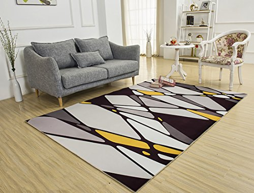SANNIX Soft Fabric Shaggy Area Rug Fluffy Living Room Carpets for Home Decor Nursery Rugs with Non-Skid Rubber Backing European style 140X200CM by SANNIX