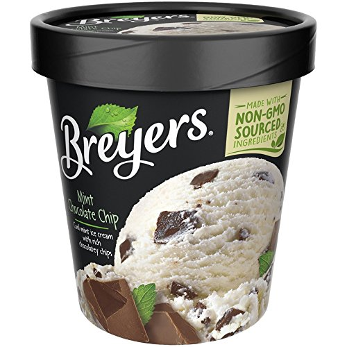 Breyers, Mint Chocolate Chip Ice Cream, Pint (8 Count) by Unilever
