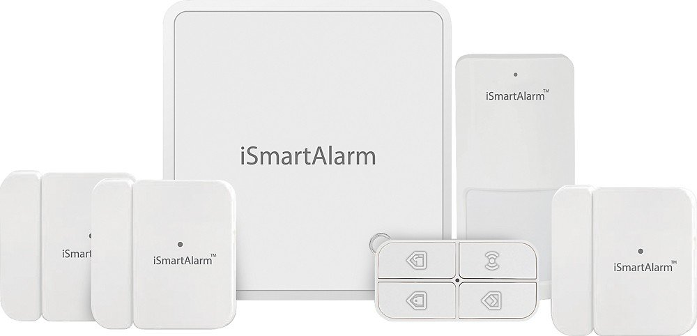 iSmartAlarm iSA8 Wireless Smart Home Security System for Homes with More Doors or Windows by iSmartAlarm