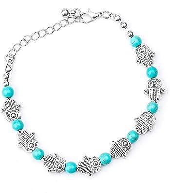 bracelet femme perle bleu