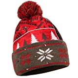 NFL Tampa Bay Buccaneers Unisex Busy Block Printed Light Up Beanie, One Size Fits Most
