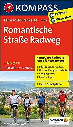 Romantische Straße Karte.Romantische Straße Radweg Fahrrad Tourenkarte Gps Genau 1 50000