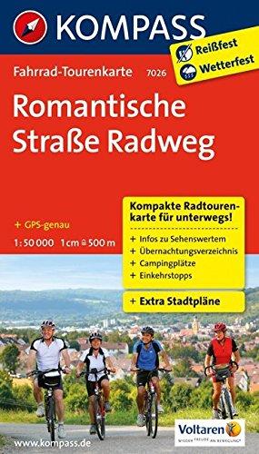 Romantische Straße Radweg: Fahrrad-Tourenkarte. GPS-genau. 1:50000. (KOMPASS-Fahrrad-Tourenkarten, Band 7026)
