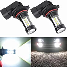 Alla Lighting 80W High Power Osram H10 9145 Extremely Super Bright White LED Lights Bulbs for Fog Light Lamp