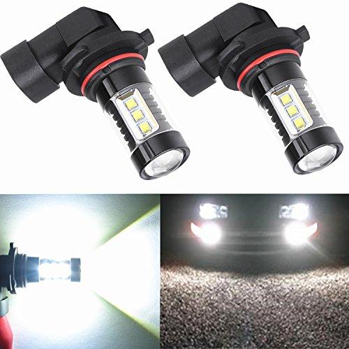 Alla Lighting Extremely Super Bright High Power 80W CREE H10 9145 White LED Lights Bulbs for Fog Light Lamps Replacement (Ford Lighting Fog Lights compare prices)