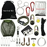 Leknes Survival Kit Outdoor Emergency Survive Tool Pack for Camping Hiking Hunting Biking Climbing Traveling