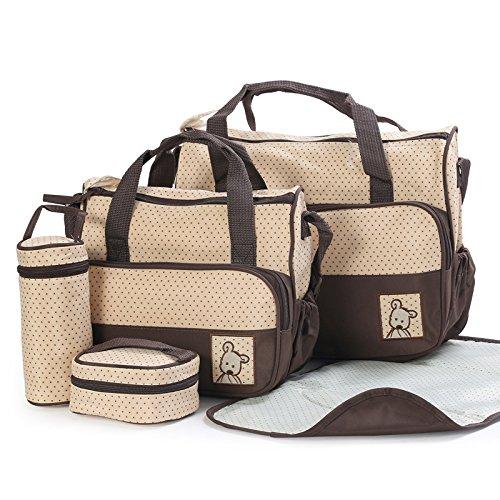 sealive-5-pcs-1-set-baby-diaper-tote-bag-kids-pad-nappy-changing-shoulder-bottle-handbag-backpack-tr